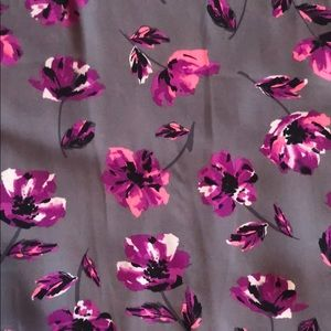 torrid Tops - Torrid Gray Pink Floral Patterned Blouse